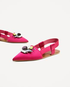 ZARA - WOMAN - FLAT SLINGBACK SHOES WITH GEM DETAIL