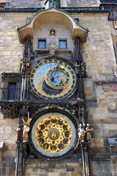 Astronomical Clock, Prague, Czech Republic. #clock