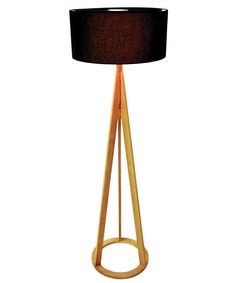 Jacob Floor Lamp in Oak/Black