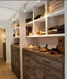 This is a closet, but I'd like drawers like this in my office.