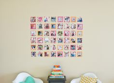 10 Mini Makeovers You Can Do in Minutes Stick 'Em Up You may be holding off on updating artwork until you find the just-right frame. But what if you didn't have to go through the process of custom matting and framing? Simplify gallery walls by hanging posters and prints with a little washi tape. You'll be able to devise pretty, perfect-size borders that show off your artwork without having to spend a ton or even lift a hammer.