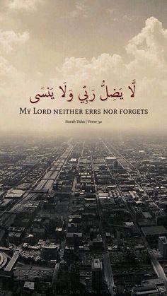 لا يضل ربى ولا ينسى