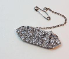 diamond and platinum double dress clips