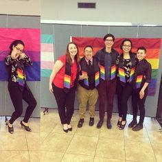 Rainbow Convocation with the Best  : @_aloharisa #bithewayitsnotaphase #wegraduatein5days #AYEEEEEE #NAUgrad by biracial.royalty