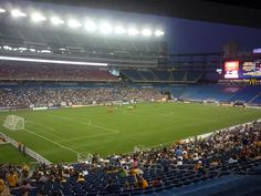 New England Revolution soccer team. Gillette Stadium, Foxboro, Mass.