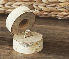 Make sure she wood say yes with this custom engagement ring box from @weathered_wi  shop now - link in bio!