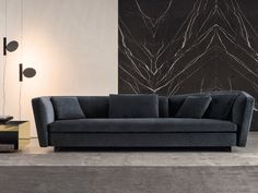 Contemporary sofa / fabric / leather / by Rodolfo Dordoni - SEYMOUR - Minotti Sofa Layout, Sofa Design, Furniture Design, Furniture Ideas, Milan Furniture, Luxury Furniture Brands, Upholstered Sofa, Living Room Lighting, Room Lights