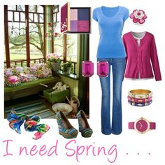 I need Spring . . . by laf, created by lois-boyce-flack.polyvore.com