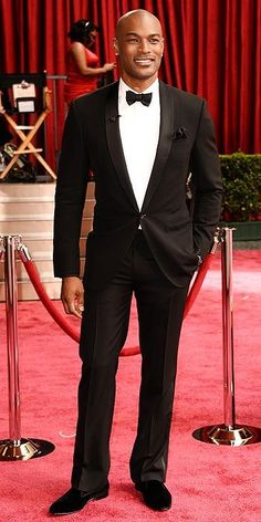 Tyson Beckford, a beautiful specimen of a human being, at the 2014 Oscars