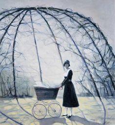 Laced Gazebo - 100 x 90 sm, oil, canvas, 2002