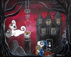 Spooky Hollow 8 by 10 print Oops I lost my Head by SpookyHollow, $17.00
