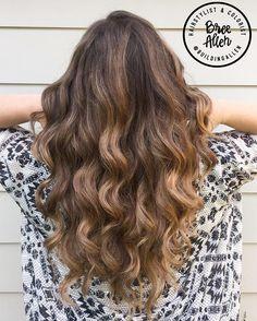 Balayage on brown hair #breeallenhair