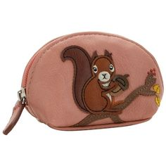 Pink applique squirrel coin purse (175 ARS) ❤ liked on Polyvore featuring bags, wallets, squirrel, coin purses, applique bag, pink wallet, coin pouch wallet and change purse