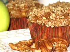 THE EASE OF FREEZE Apple Pumpkin Muffin (pecan topping)