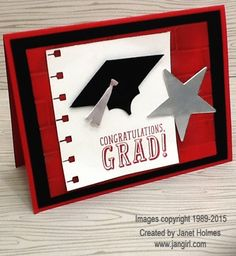 Jan Girl: Stampin' Up BYOP and Celebrate Today Graduation card Curvy Keepsakes Graduation box