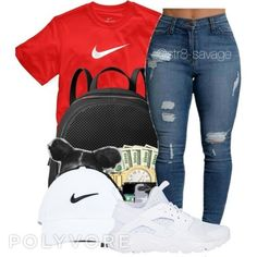 Baddie Outfits – Page 8690403127 – Lady Dress Designs Nike Outfits, Swag Outfits For Girls, Teenage Girl Outfits, Cute Swag Outfits, Teen Fashion Outfits, Teenager Outfits, Emo Outfits, Punk Fashion, Girl Fashion