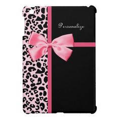 Pink and Black Trendy Leopard Fashion Cover For The iPad Mini