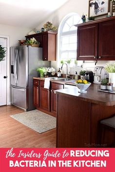 Most of us know the first step to reducing bacteria in the kitchen is to keep hands and surfaces clean.  But what about the tools that you use to keep those surfaces clean? Whether your preference is to use dishcloths, sponges or both – they can both harbor germs no matter how often you clean them.  Visit TidyMom.net to get THE INSIDERS GUIDE TO REDUCING BACTERIA IN THE KITCHEN #cleaning #kitchen #kitchentips #cleaningtips #tidymom via @tidymom
