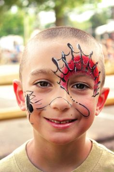 spider face paint | Spider-Man Face Paint, The Painted Peacock, Cleveland Face Painter