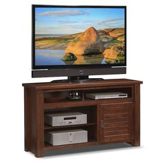 Prairie Fireplace TV Stand with Traditional Insert - Mesquite Pine Colorful Furniture, Unique Furniture, Vintage Furniture, Furniture Design, Outdoor Furniture, Fireplace Tv Stand, Living Room With Fireplace, Value City Furniture, Furniture Online