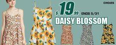 מבצע הנחות על שמלות פרחוניות לקיץ וקופון Memorial Day - סטטוס באזז