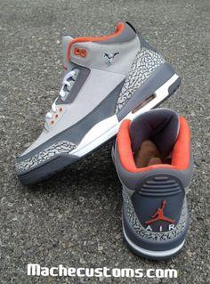 8793dad1520225 Air Jordan 3  Pigeon  by Mache Custom Kicks Cheap Jordan Shoes