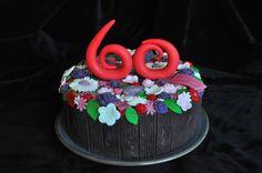 Een bloemen taart voor mijn moeders 60e verjaardag