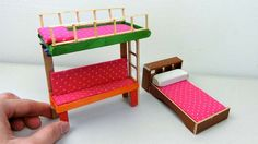 DIY Popsicle Stick Bunk Bed| Easy Craft Ideas
