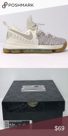 a90a3289499 Nike Zoom KD9 6.5Y Nike Zoom KD9 GS Youth Pale Grey Ivory White Youth Size  6.5Y Brand New With Box  125 Retail 100% Authentic Nike Zoom KD9 GS Nike  Shoes ...