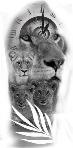 Lion Leg Tattoo, Lion Forearm Tattoos, Lion Head Tattoos, Mens Lion Tattoo, Lion Tattoo Design, Wolf Tattoos, Animal Sleeve Tattoo, Sleeve Tattoos, Lion Head Drawing