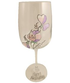 Sweet pea wine glass 40th birthday ** You can get additional details at the image link.