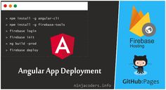 Creating an angular app is a fun, but when it comes to deployment everyone struggle a lot and if you want to test your app on live server there is a cost attached to it, don't worry will be using free and easy hosting for testing our angular app on live server. Firebase provide free hosting for angular apps and GitHub pages is also a place where you can host static website. This tutorial will cover deploying angular app to Firebase and Github Pages.