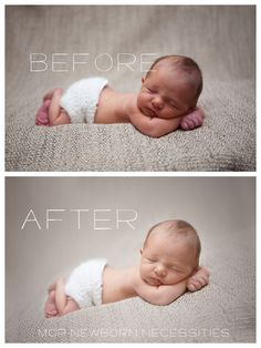 This blueprint will teach you how to edit newborn photos and retouch skin using MCP Newborn Necessities Photoshop actions.