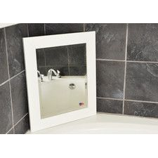 Rayne Glossy White Wide Wall Mirror adds style to function.  @Wayfair.com