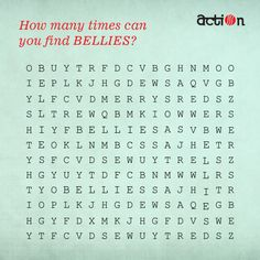 We have lost BELLIES in the crossword. Can you help us in spotting it in the crossword?