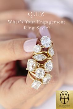 Do you love all the engagement rings? Trying to decide what the perfect style engagement ring is for you? Try taking our quiz it will help you find your dream engagement ring style! It's a super easy quiz and it's fun too! Unusual Wedding Rings, Stacked Wedding Rings, Beautiful Wedding Rings, Wedding Rings For Women, Wedding Ring Bands, Engagement Ring Quiz, Organic Engagement Rings, Dream Engagement Rings, Unique Diamond Engagement Rings