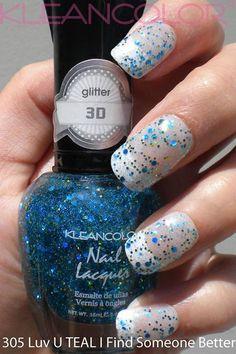 Kleancolor - 3D Glitter - LUV U Teal I Find Someone Better