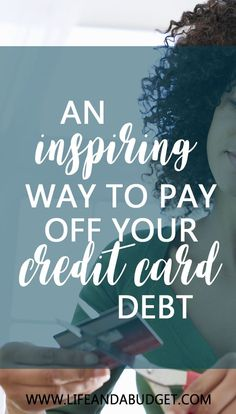AN INSPIRING WAY TO Paying Off $5,500 in Credit Card Debt via @lifeandabudget