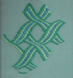 This weekend I started on a new project. It is a Bargello using Kreinik& new Holographic Ribbon for the turquoise strip down the centers . Broderie Bargello, Bargello Needlepoint, Needlepoint Stitches, Needlework, Hardanger Embroidery, Cross Stitch Embroidery, Cross Stitch Patterns, Bargello Patterns, Graph Paper Art