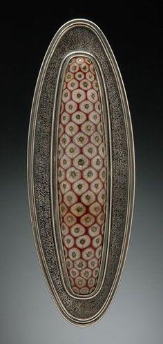 Persian Red Totem Brooch by Kristina Logan Jewelry Crafts, Jewelry Art, Jewelry Design, Jewlery, Contemporary Jewellery, Modern Jewelry, Lampworking, Schmuck Design, Enamel Jewelry