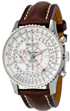 Breitling Men's Silver Dial Montbrilliant Datora Watch