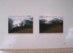 "Ocean Breathes Diptych 35x126""/90x320cm 2005- Malin Lager"