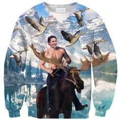 Moosin' Trudeau Sweater – Shelfies - Outrageous Clothing