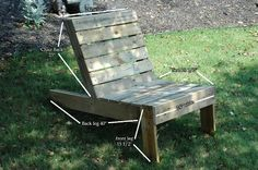 Perfect pallet chairs posted from Flea Market Gardening Wooden Lawn Chairs, Pallet Chairs, Pallet Bench, Diy Pallet, Recycled Pallets, Wooden Pallets, Recycled Garden Art, Outdoor Furniture Plans, Pallet Furniture