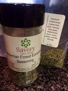 Bohemian Forest European Spice Blend.  Crack in a bottle!!  From Denver, CO & freshly packaged.  Go to www.SavorySpiceShop.com & order the refill bag for $10.  Believe me, you will use it on EVERYTHING!