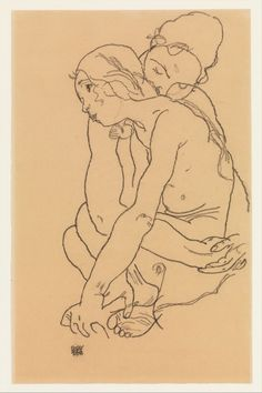 """shipwreck: """" egon schiele's two women embracing (1918) """""""