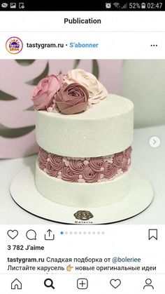 Interesting spacing between cake tiers. Interesting spacing between cake tiers. Gorgeous Cakes, Pretty Cakes, Amazing Cakes, Wedding Cake Fresh Flowers, Bolo Cake, Dessert Decoration, Just Cakes, Cake Decorating Techniques, Tiered Cakes
