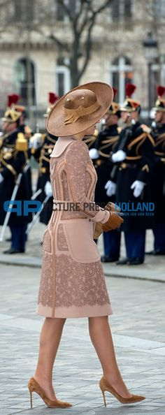 King Willem-Alexander of the Netherlands and Queen Maxima on Official Two days State Visit in Paris. March 2016