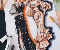 Dress Design Sketches, Fashion Design Sketchbook, Fashion Sketches, Fashion Illustration Dresses, Design Girl, Motif Design, Drawing Clothes, Fashion Art, Designer Dresses