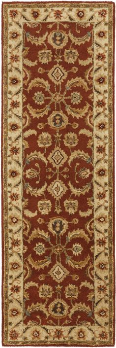 Surya A147 Ancient Treasures Red Runner Area Rug